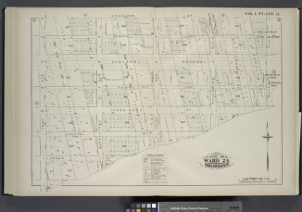 Vol. 1. Plate, Q. [Map bound by Douglass St., Buffalo Ave., City Line, Troy Ave.; Including Degraw St., Eastern Parkway, Union St., President St., Carroll St., Crown St., Schenectady Ave., Utica Ave., Rochester Ave.]