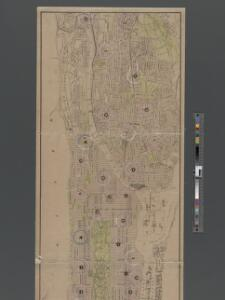 1907 library map of Manhattan, City of New York.