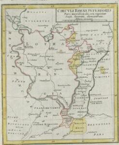 Circvli Rheni Svperioris Pars meridionalis, seu superior Scissa, lacerata, dismembrata