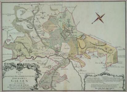 Plan des Hoch. Fvrst-Hess[isch] Darmstattischen Oberamts Giesen