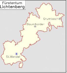 Fürstentum Lichtenberg [1830] [Nebenkarte]