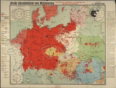 Große Sprachenkarte von Mitteleuropa