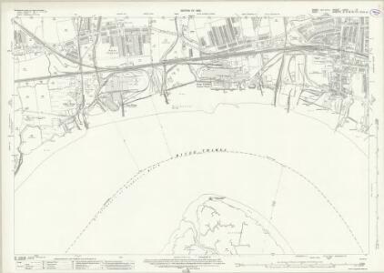 Essex (New Series 1913-) n XCV.6 (includes: Northfleet; Swanscombe; Thurrock) - 25 Inch Map