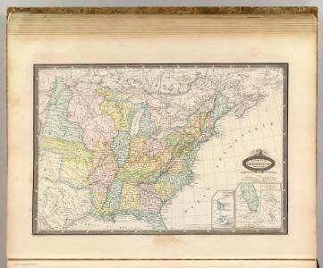 Etats-Unis de l'Amerique en 1855.