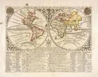 Mappemonde ou description generale du globe terrestre