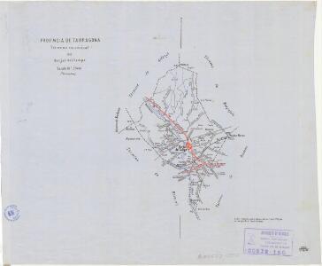 Mapa planimètric de les Borges del Camp