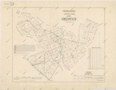 Přehledná porostní mapa polesí Orlovice