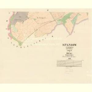 Spaniow (Spaniowo) - c7171-1-003 - Kaiserpflichtexemplar der Landkarten des stabilen Katasters