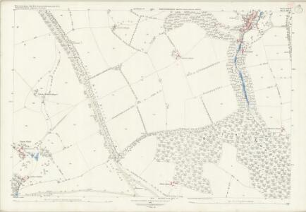 Worcestershire LVII.12 (includes: Blockley; Bourton on the Hill) - 25 Inch Map