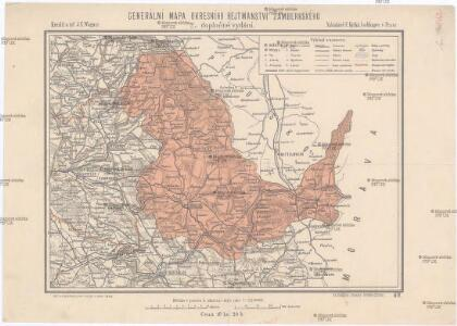 Generální mapa okresního hejtmanství Žamberského