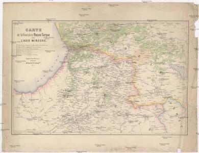 Carte de la frontiere Russo Turque dans l'Asie mineure
