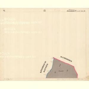 Hammern - c1768-1-022 - Kaiserpflichtexemplar der Landkarten des stabilen Katasters