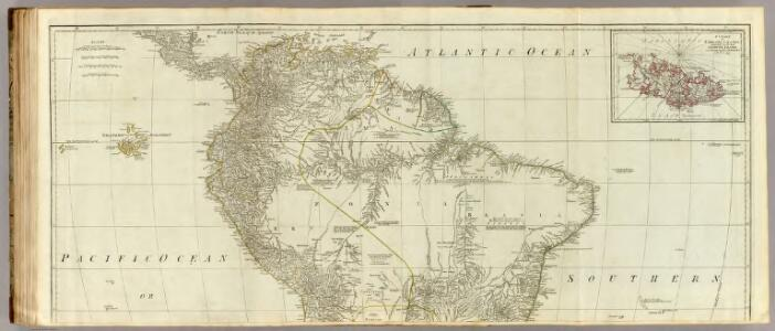 (A map of South America, northern section)