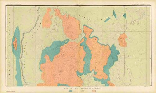 Map Of The Uinkaret Plateau. North Half. Atlas Sheet VII. Geology by C.E. Dutton. Julius Bien & Co. lith. U.S. Geological Survey, Geology of the Grand Canon District.