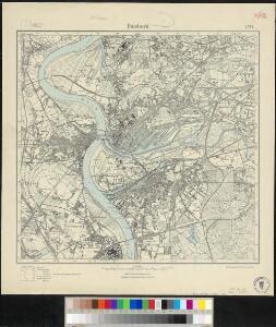 Messtischblatt 2574 : Duisburg, 1922 Duisburg