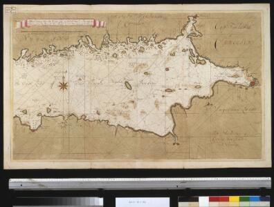 Afteekening van de Oostzee of Oost Finsche Boodem vertoonende de vaart van Revel tot St. Petersburgh int groot