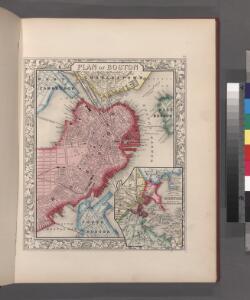 Plan of Boston.