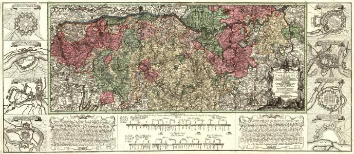 Charte Geographique De la Campagne Du Haut Rhin Pour L'anne MDCCXXXIV