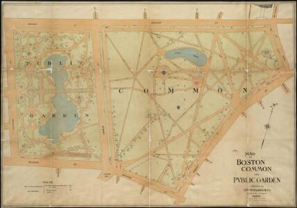 Map of Boston Common and Public Garden