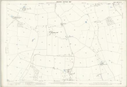 Essex (1st Ed/Rev 1862-96) XII.13 (includes: Gestingthorpe; Great Maplestead; Little Maplestead; Wickham St Paul) - 25 Inch Map