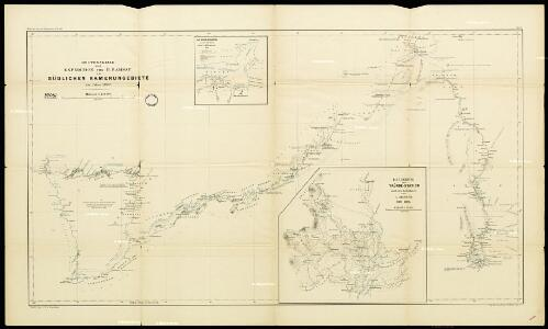 Route sketch of H. Ramsay's expedition in the southern Cameroon regions
