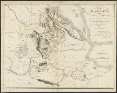 Carte d'Abyssinie et des contrées adjacentes dressée partie d'après des observations faites sur les lieux par l'auteur, partie d'après les informations prises dans le pays en 1809 et 1810