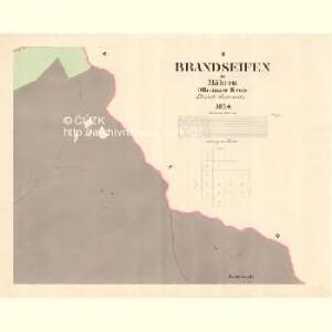 Brandseifen - m3635-2-002 - Kaiserpflichtexemplar der Landkarten des stabilen Katasters