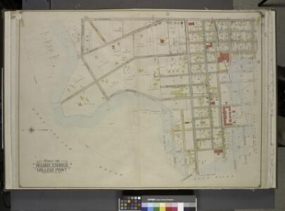 Queens, Vol. 3, Double Page Plate No. 1; Part of ward Three College Point. [Map bounded by Avenue G, North Boulevard, Van Wycks Lane,  College Ave., West Boulevard, First Ave., Bradish Ave., Second Ave., Nichols     Ave., Third Ave., Fourth Ave., Fift