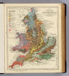 Geological map England, Wales.