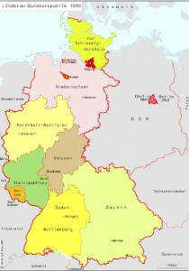 Länder der Bundesrepublik 1989