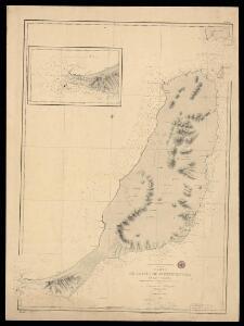 Carta de la Isla de Fuerteventura en las Canarias levantada en 1835 por el Teniente Arlett de la Marina R. Inglesa