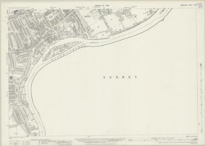Middlesex XX.16 (includes: Ham; Petersham; Twickenham St Mary The Virgin) - 25 Inch Map