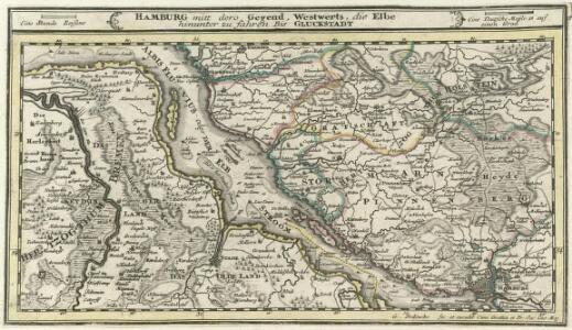 Hamburg mit dero Gegend Westwerts, die Elbe hinunter zu fahren Bis Gluckstadt.