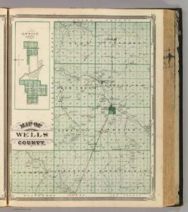 Map of Wells County. (with) Ossian, Wells Co.