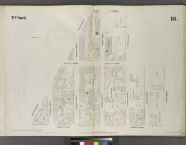 Plate 18: Map bounded by Grand Street, East Street, Water Street, Corlears Street, South Street, Jackson Street.