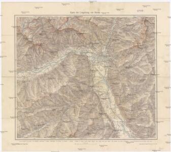 Karte der Umgebung von Meran