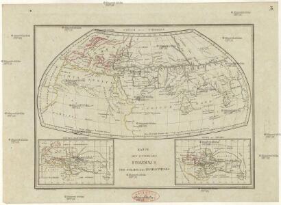 Karte des Systems des Ptolemaeus des Strabo und des Eratosthenes