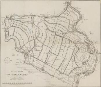 Nieuwe kaart van de Vyf Heeren Landen gelegen tusschen den Dief en Zouwen Dyk