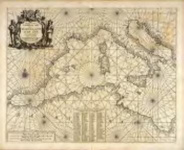 Paskaert van 't westelycke deel der Middelandsche Zee