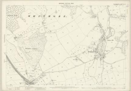 Staffordshire XVII.14 (includes: Madeley; Whitmore) - 25 Inch Map