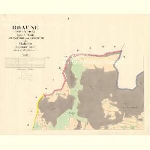Braune (Wranowa) - m3471-1-001 - Kaiserpflichtexemplar der Landkarten des stabilen Katasters