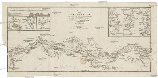 Charte vom Laufe des Ganges von Colgong bis Hurrisonker
