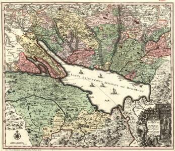 Lacus Bodamicus vel Acronius cum regionibus circumjacentibus recens delineatus