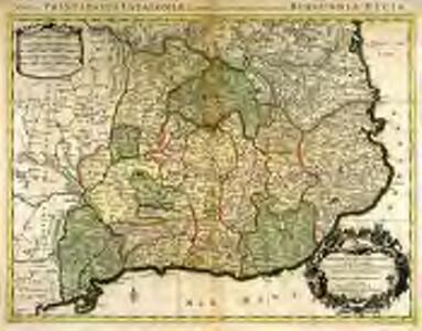 Principauté de Catalogne où sont compris les comtés de Rousillon, et de Cerdagne