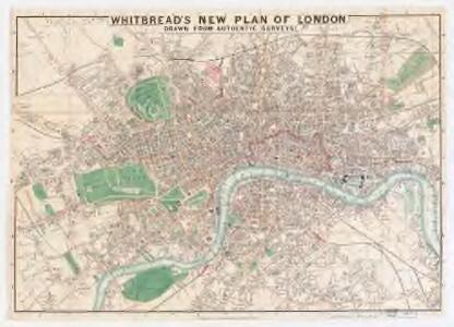 Whitbread's new plan of London