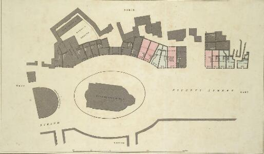 Plan of the improvements in the Strand near St Clements Church