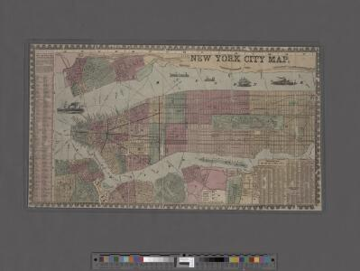 New York City Map. Extracted from Phelps' strangers and citizens' guide to New York City, with maps and engravings.