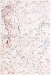 Map showing progress in Arras area