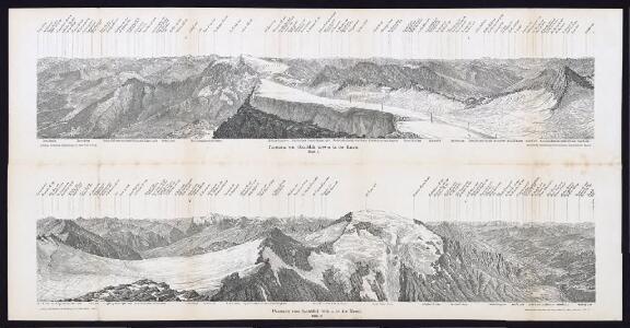 Panorama vom Sonnblick 3090 m in die Rauris