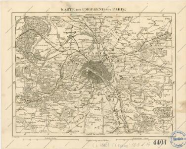 Karte der Umgegend von Paris